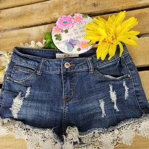 PAPAYA  Cut off distressed denim shorts150